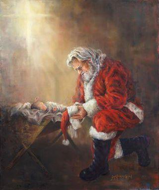Santa worshipping
